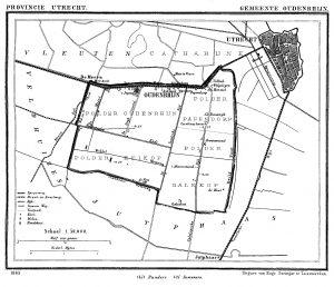 kaart gemeente Oudenrijn
