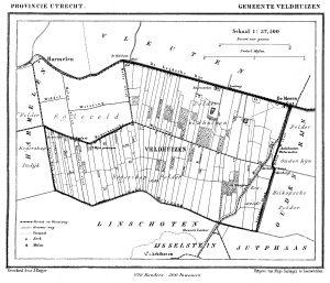 kaart gemeente Veldhuizen