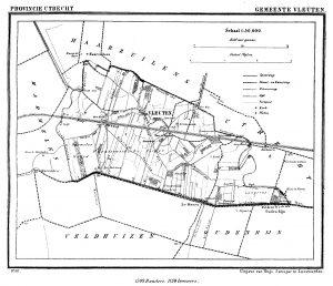 kaart gemeente Vleuten