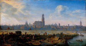 Herman Saftleven ? Gezicht op Utrecht (ca 1664).