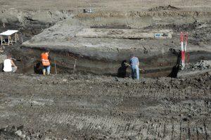 eoarcheologische opname v/e profielwand op het terrein van de Vergulde Hand West in Vlaardingen