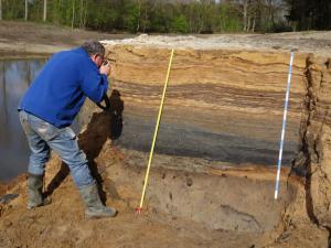 Foto van Pleistocene zandondergrond