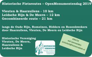 Historische fietsroute OMD 2019